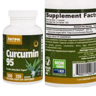 [ 代購 ] Jarrow Formulas, Turmeric Concentrate Curcumin 95 薑黃素 95,500mg ( 120 粒 )
