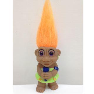 幸運小子(我是歌手 - 橘髮)醜娃、巨魔娃娃、醜妞、Troll Doll、魔髪精靈、魔法精靈、唱歌、拉丁、那卡西