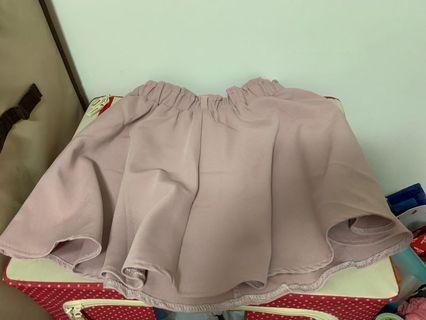 藕粉色褲裙