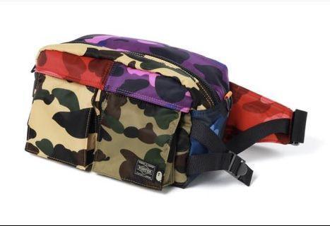 Bape Porter Mix Camo Waist Bag