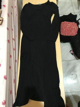 Long Black Dress bodyfit