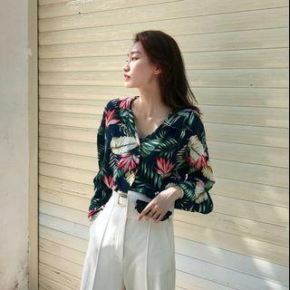 🚚 Korean Tropical Blouse