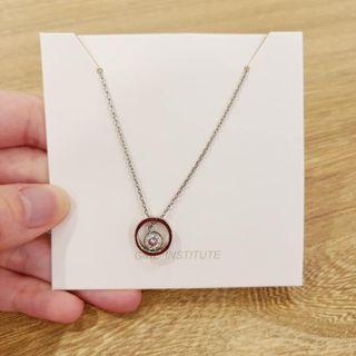 全新韓國圓形亮鑽項鏈 鎖骨鍊 首飾 墜飾