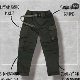 Goopi 二代軍褲 3-D Patchwork Jungle Pants 軍綠2號