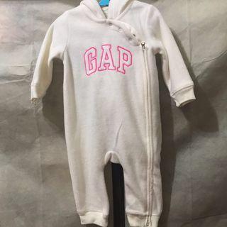 Baby Gap 白色貓咪連身衣 6-12M