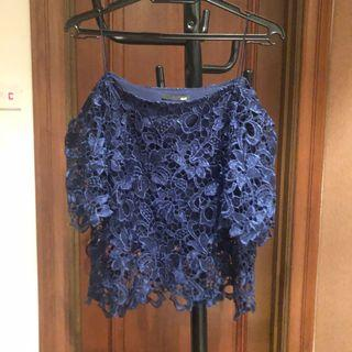 DD Collective Navy Blue Lace Top