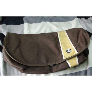 Crumpler 'The Western Lawn' Messenger Bag, Brown/Yellow