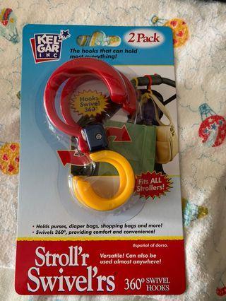 Hooks for stroller