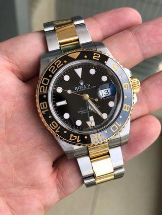 劳力士Rolex停產金鋼綠針GMT