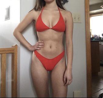 New zaful ribbed bikini