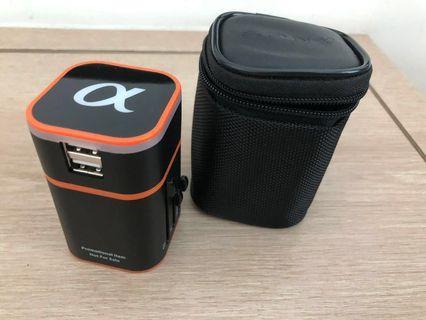 SONY ALPHA Compact International Plug with 2 USB Ports