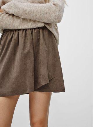 Aritzia Nescher Suede Skirt