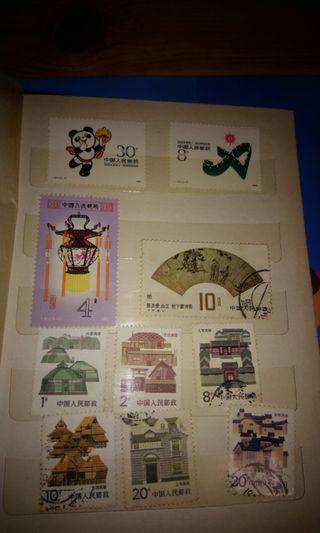 大堆罕有中國郵票和香港郵票,有意pm價錢比我