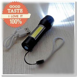 🚚 🆕 迷你伸縮變焦手電筒/ USB充電