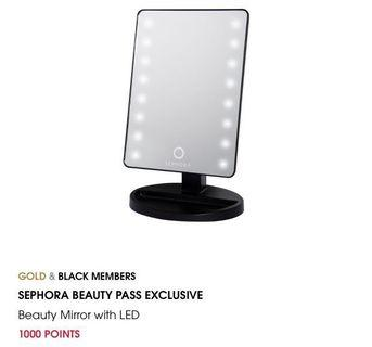 Sephora beauty mirror with LED