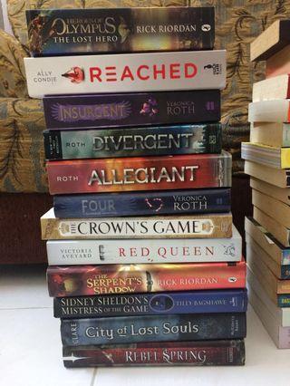 English Novels (rm5 each)