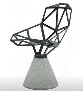 Konstantin Grcic Chair One (black) with cement base