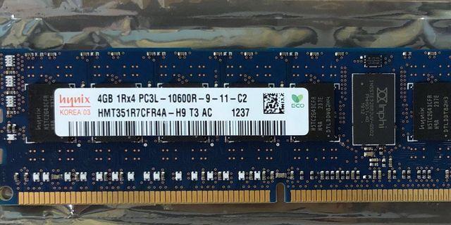 4GB DDR3 PC3L-10600R Server or Workstation RAM