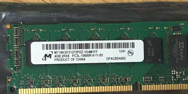 4GB DDR3 PC3L-10600R Server RAM