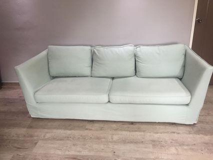 🚚 Beautiful light green 3 seater Sofa cheap: $39