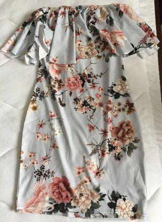 Misguided Floral Strapless Dress (resale)