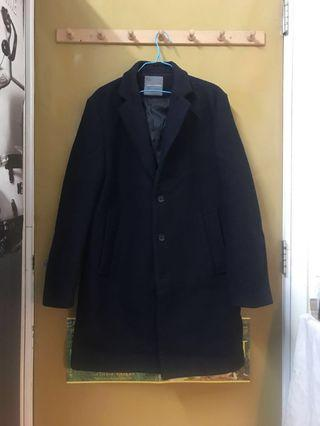 LOWRYS FARM MEN Winter Wool Coat in Dark Navy Blue
