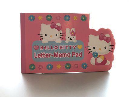 HELLO KITTY LETTER MEMO PAD