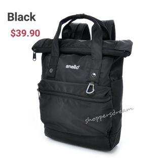 🚚 Black Anello URBAN STREET Backpack AT-B1681 - instock -