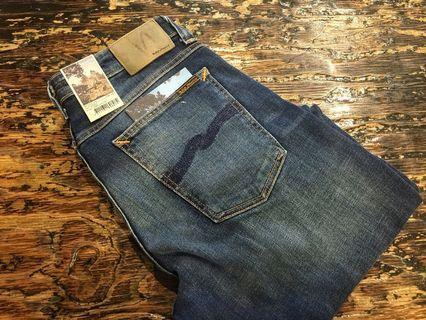 nudie jeans  skinny lin navy shade size 32