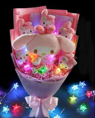💓FREE DELIVERY PROMO💓 - Melody Bouquet / Plush Toy Bouquet / Soap Roses Bouquet