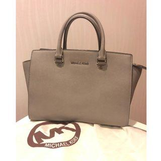 *Reduced Price* Classic Michael Kors Selma - Professional Work Style Pearl Grey Medium Satchel