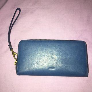 Original Fossil Blue Long Wallet #mauthr