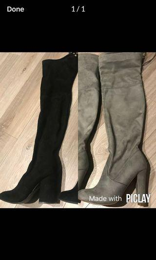 Barely worn knee high boots for winter !!
