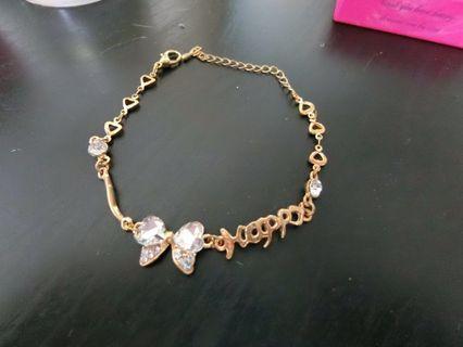 🚚 蝴蝶鑲鑽手鏈手環