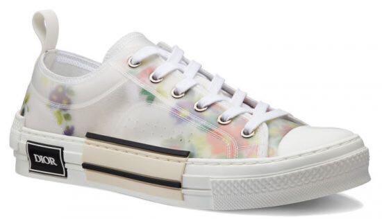Dior B23 Floral Print Sneakers