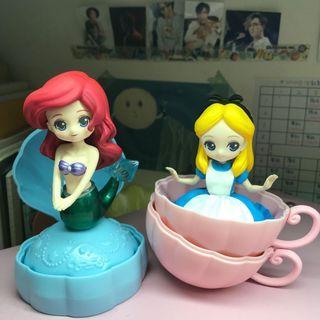 迪士尼公主扭蛋第四彈 愛麗絲 愛麗兒 小美人魚