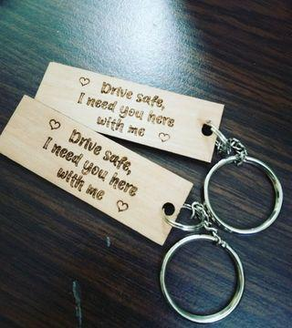 Wooden Custom Made Keychain
