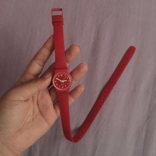 Swatch Original Double Wrap Rubber Watch Red #mauthr