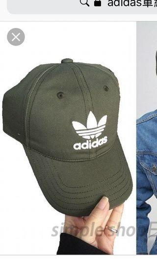🚚 adidas愛迪達帽 軍綠