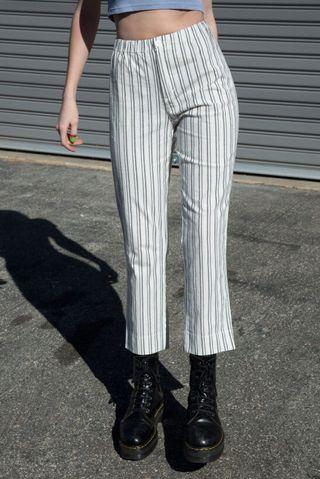 🚚 Brandy Melville Tilden Pants White Stripe