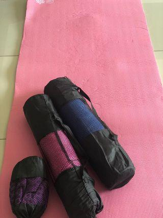 3 pieces anti-slip yoga mat with carry bags