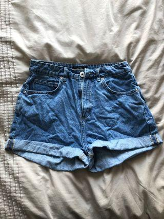High waisted mom shorts size 12