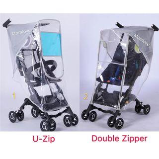 Ready Stock! Brand New Rain Cover/Weather Shield/Canopy Waterproof Protection Cover for Qbit GB Pockit + Pockit Baby Stroller Pram