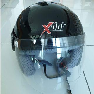 X-dot G618N Black. Clear Visor