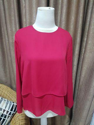 Red Long Sleeved Top