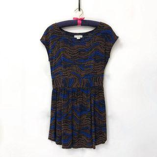 Cotton On Brown and Blue Dress