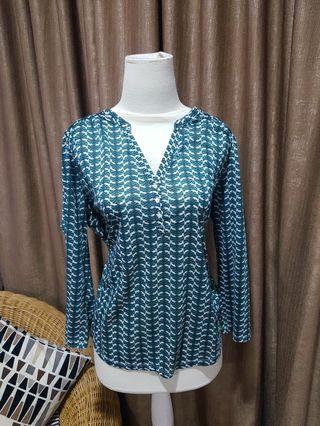 Green Patterned Blouse