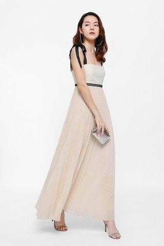 🚚 Love Bonito Deran Tie Pleated Maxi Dress XS BNWT