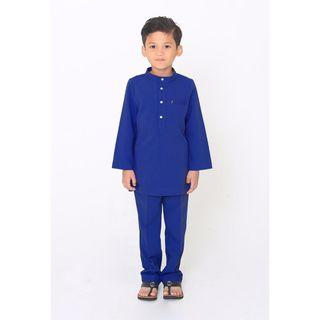 BRAND NEW Jovian Men - Baby Ziyad Modern Baju Melayu In Royal Blue