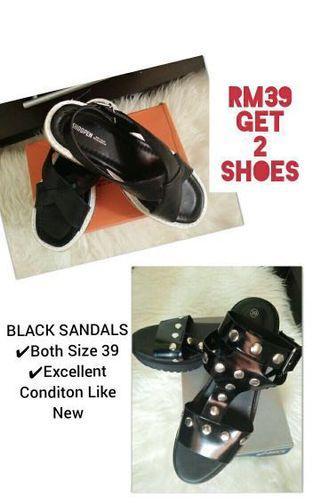Shoopen & Monki Flat Wedges Sandals
